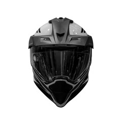 Black and white motorcycle helmet isolated on white background (