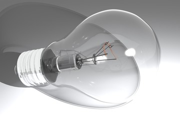 Bulb on white surface