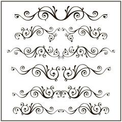 Vintage ornamental vector frames