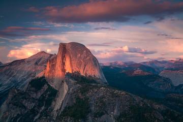 Halfdome Sunset Yosemite California Wall mural