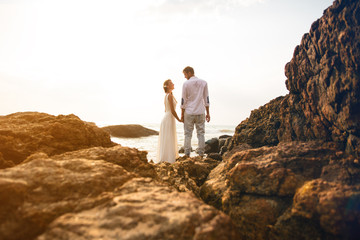 Wedding photo in indian ocean Sri Lanka