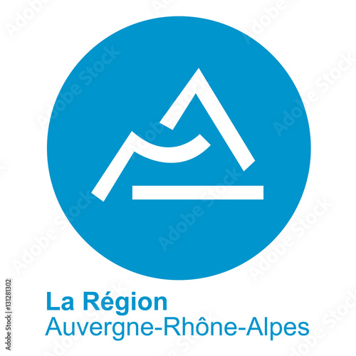 logo de la nouvelle r gion auvergne rh ne alpes stock photo and royalty free images on. Black Bedroom Furniture Sets. Home Design Ideas