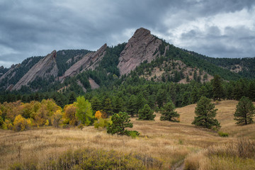 Autumn colors at Flatirons in Colorado