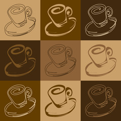cup tiled pattern