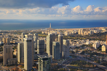 Panoramic view of Tel Aviv from the top