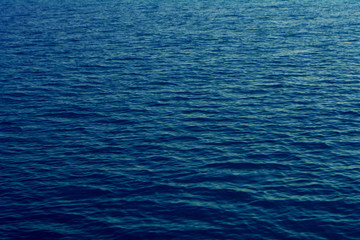 Blue sea water texture calm and peaceful background