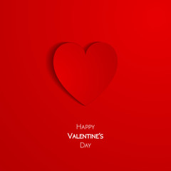 Happy Valentine Day greeting card with heart, vector illustration of loving heart