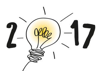 2017 - Idée - créativité - carte de vœux - solution