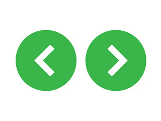 Left right or back next icon button green