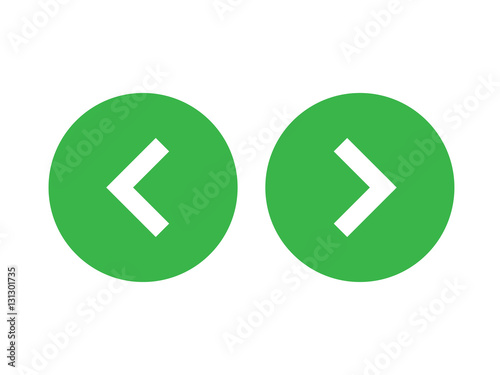 """""""Left Right Or Back Next Icon Button Green"""" Stock Image"""