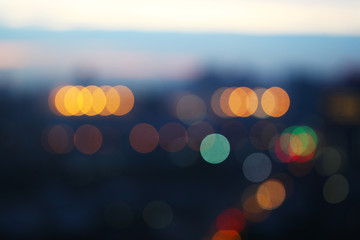 Abstract various colorful blurred bokeh as a background