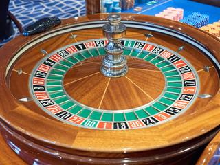 Roulette closeup gambling casino board