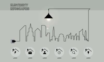 Fototapeta Electricity infographic  obraz
