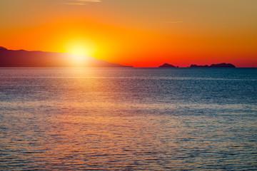 Golden natural sea sunset
