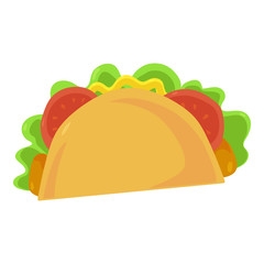 Fast food taco icon