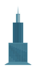 Skyscraper icon isolated on white background