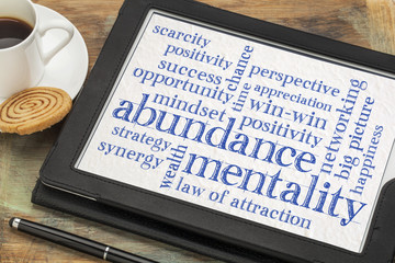 abundance mentality word cloud