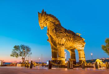Printed kitchen splashbacks Turkey Trojan horse, Canakkale Turkey