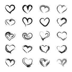 Icons heart sketch.