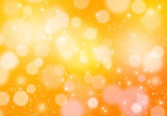 Abstract yellow and golden christmas lights background