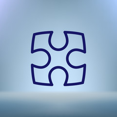 Part of paper puzzles flat icon