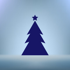 Pictograph of christmas tree