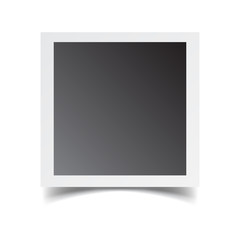 Photo frame isolated on white background. For your photography and picture. Vector illustration