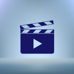 Media player icon vector illustration