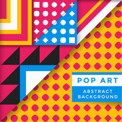 vector abstract pop art background.
