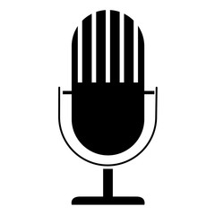 Microphone Icon with vertical grills