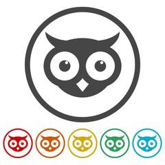 Owl icons set