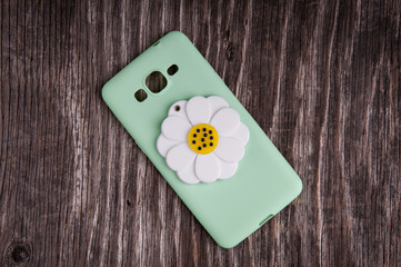 Mobile phone cover with decorative flover