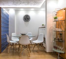 Modern dinig room interior