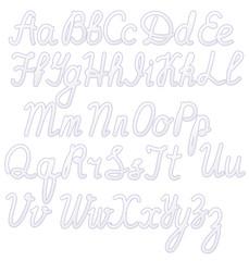 Writing alphabet white