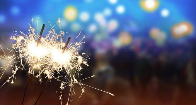 Wunderkerze - Neujahr / Silvester / Feier