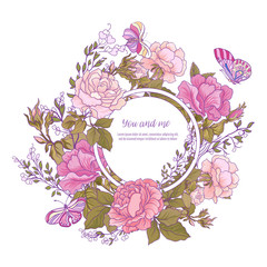 Rose flower background. Good for greeting card for birthday, inv
