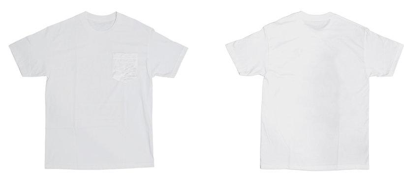 Blank Pocket Tee (White)