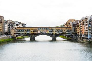 Ponte Vecchio in Florence Italy, Bridge with Shops, Arno