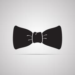 Векторная иллюстрация иконка простой символ плоский для веб bow праздничный бант бантик