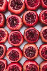 Fresh pomegranates for juice market in Turkey, fruit background