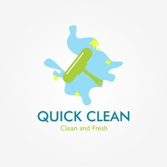 Cleaning service logo Design Template. Vector Illustration