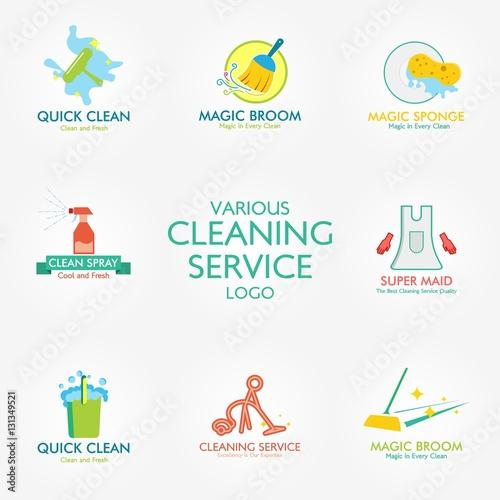 Cleaning service logo Design Template. Vector Illustrationu0026quot; Stock ...