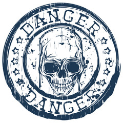 skull stamp danger