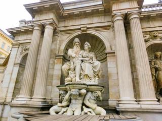 Albrecht, or Neptune fountain at Albertina Museum on Albertinaplatz in Vienna