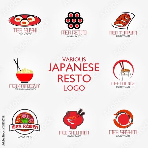 Japanese Restaurant Logo Design Template Vector