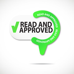 pin web button : read and approved