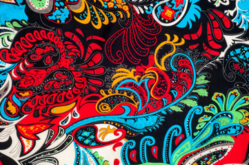 fabric, texture, background, silk fabric, black red yellow green