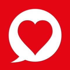Cœur - pictogramme - émotionne - amour