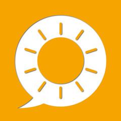 Soleil - pictogramme - émotionne - beau temps