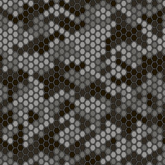 Hexogen camouflage  on a gray background